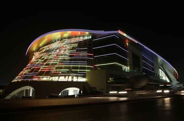 Yeni Ankara Hızlı Tren Garı ışıklandırıldı