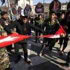 Irak'ta Türk bayrağına saldırı