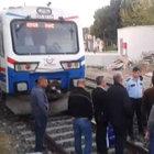 Vatandaşlar tepki için seyir halindeki treni durdurdu