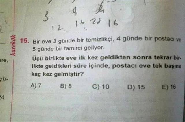 Sınavlarda sorulan en ilginç sorular