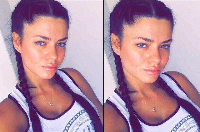 Adriana Lima'nın ikizi Gökçe Eygi Türkiye'de ortaya çıktı