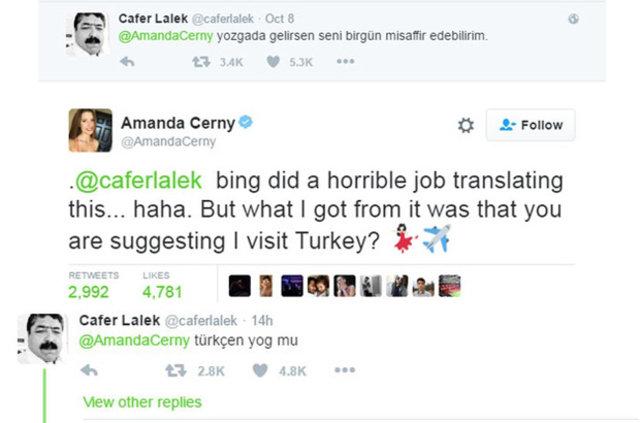 Amanda Cerny'den Yozgatlı dayı Cafer Lalek'e cevap