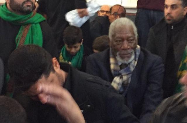 Morgan Freeman Aşure Günü'ne katıldı