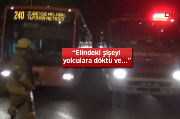 belediye otobüsü tinerci iki yaralı izmir
