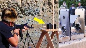 60 adet ekran koruyucu takıp silahla ateş etti! İşte sonuç...