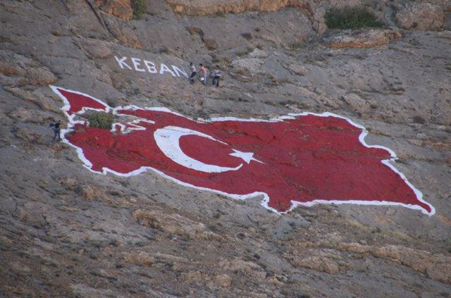 Türkiye'nin en büyük kaya haritası boyandı