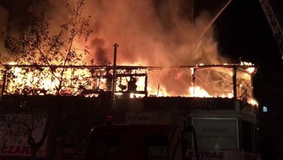 Kartal işyeri yangını