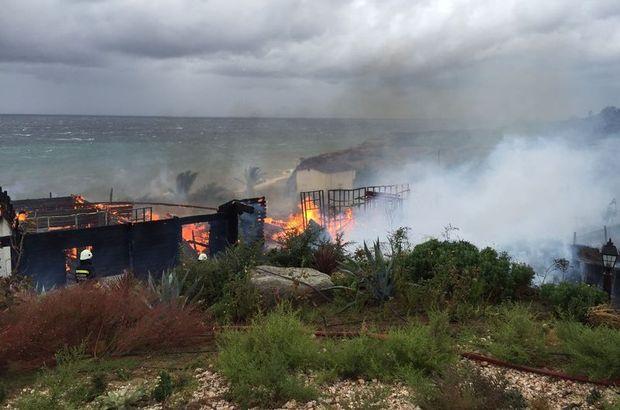 Ağaoğlu'nun Avşa Adası'ndaki villası yandı