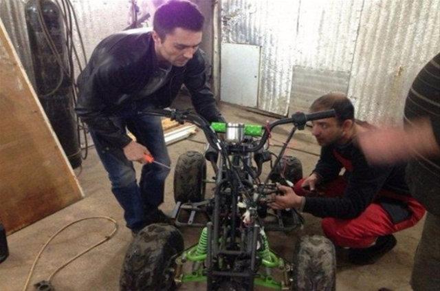 ATV motoru otomobile çevirdi