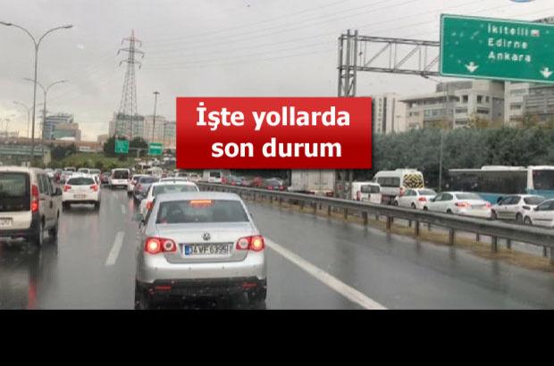 İstanbullulara yağmur şoku!