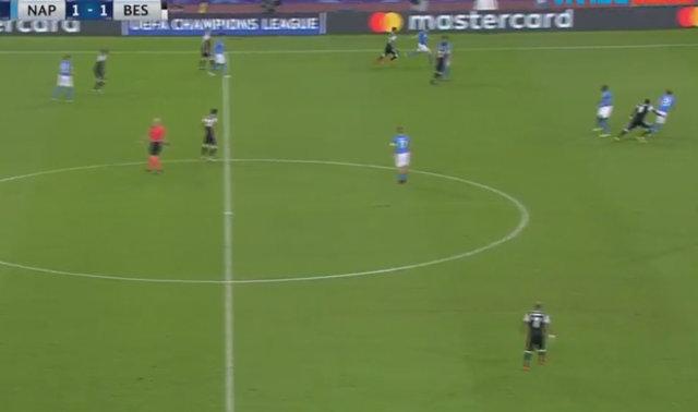 Aboubakar'ın Napoli'ye attığı gol...