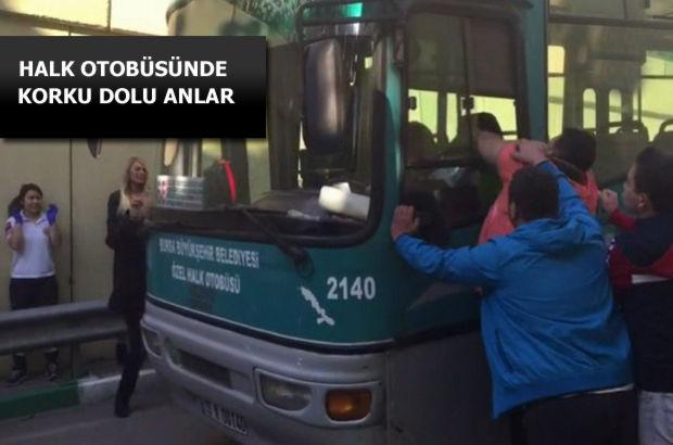 Bursa'da alkollü halk otobüs şoförü direksiyonda sızdı, kendini otobüse kilitledi