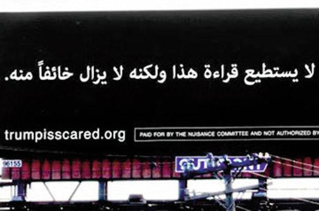 Trump'ı bu billboardla ti'ye aldılar