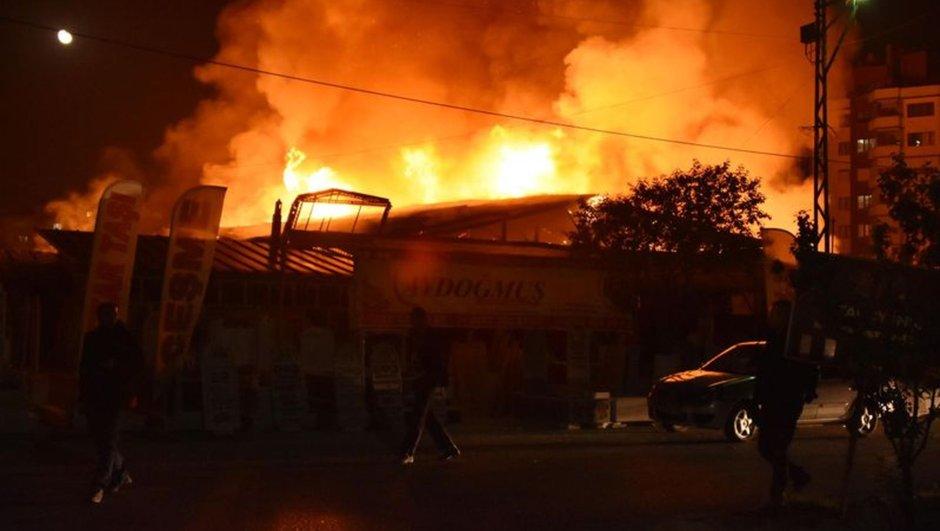 Konya işyeri yangını