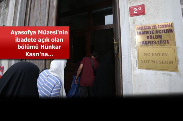 Ayasofya Müzesinin ibadete açık bölümü Hünkar Kasrında 5 ...