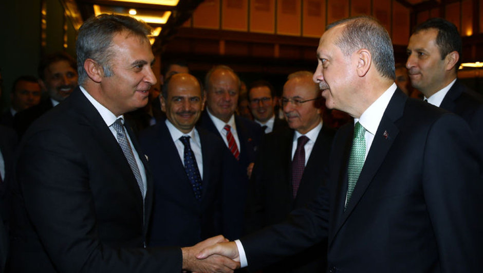 Cumhurbaşkanı Recep Tayyip Erdoğan Fikret Orman Napoli Beşiktaş