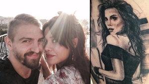 Caner Erkin sevgilisi Şükran Ovalı'nın resmini koluna dövme yaptırdı