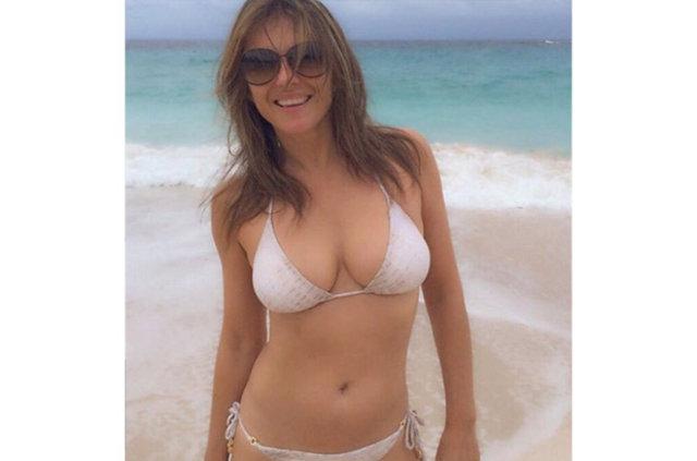 Elizabeth Hurley'den bikinili paylaşımlar
