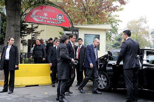 Erdoğan'dan polis merkezine ziyaret