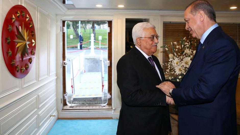 Cumhurbaşkanı Recep Tayyip Erdoğan Mahmut Abbas