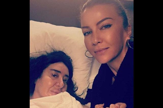 Nur Yerlitaş ameliyat olduğu hastaneden çıkıp otele yerleşti