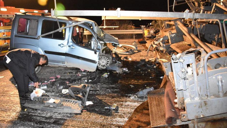 Aydın trafik kazası iş makinesi