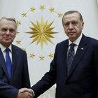 Erdoğan, Fransa Dışişleri Bakanı'nı kabul etti