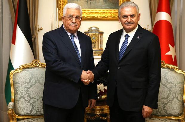 Başbakan Binali Yıldırım Mahmud Abbas