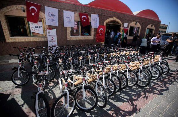 Erdoğan'ın hediyeleri Gazze'de dağıtılıyor