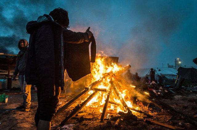 Fransa'da sığınmacıların tahliyesinde 'hijyen' skandalı