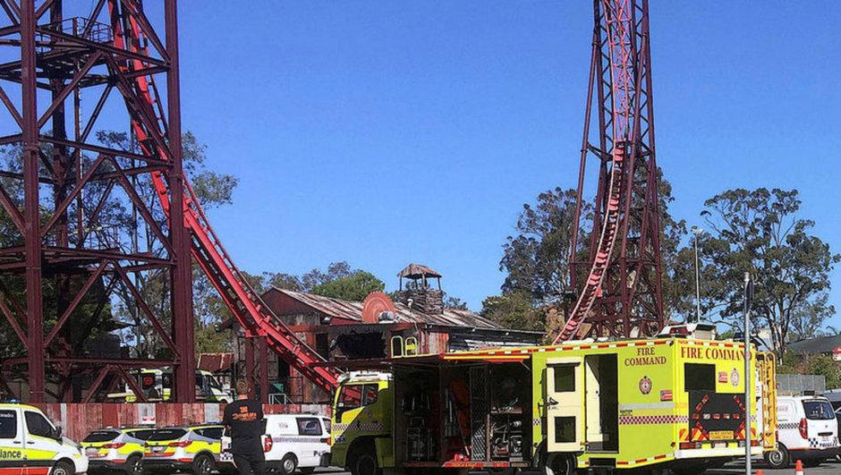 gold coast lunapark kazası