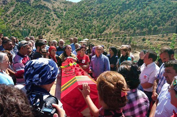 HDP'liler PKK'lı teröristlerin cenazesinde