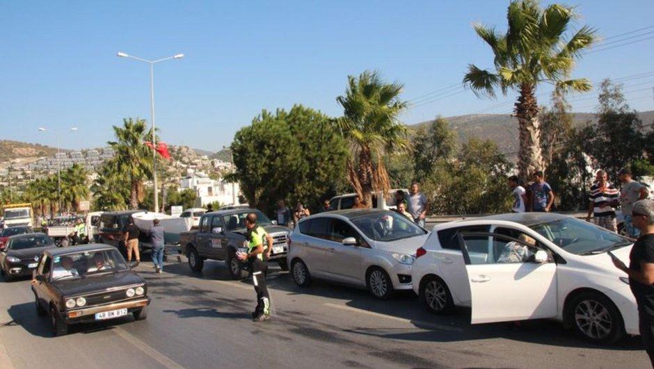 Bodrum zincirleme trafik kazası
