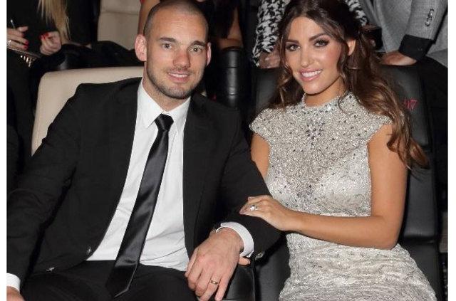 Wesley Sneijder ve Yolanthe Cabau yeni evine taşındı