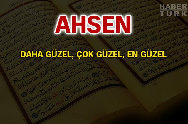 Kuran'da geçen isimler ve anlamları