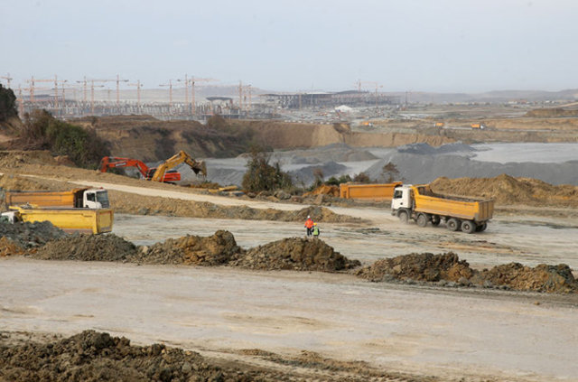 İstanbul Yeni Havalimanı inşaatı