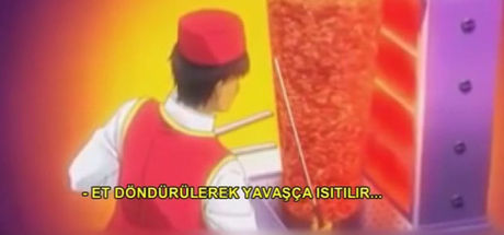 Japon çizgi filmindeki döner sahnesi Türk dönercileri sevindirdi