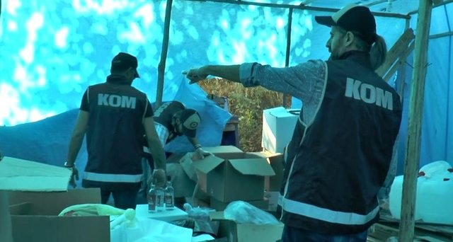 Mersin'de nefes kesen sahte içki operasyonu