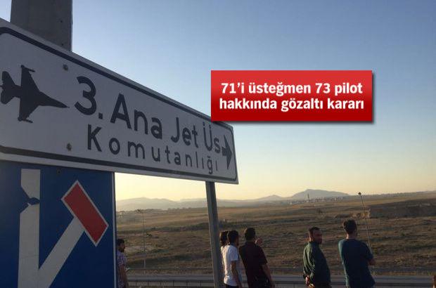 Konya 3. Ana Jet Üssü'nde 4. dalga FETÖ operasyonu!