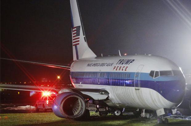 Trump'ın başkan yardımcısı adayı Pence'in uçağı pisten çıktı