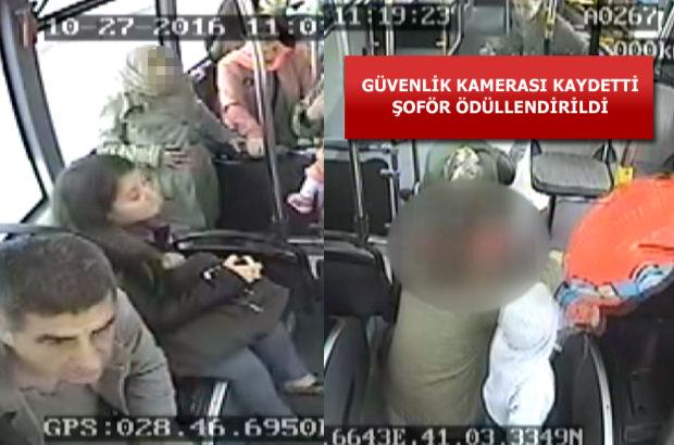 İstanbul'da halk otobüsünde doğum