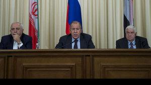 Rusya, İran ve Suriye Dışişleri Bakanları bir araya geldi