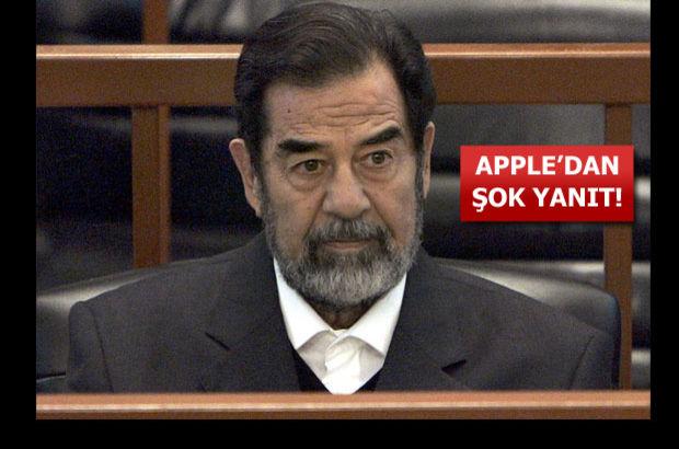 Apple, İngiltere'de yaşayan adamdan Saddam Hüseyin olmadığını kanıtlamasını istedi