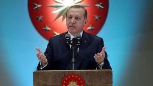 Cumhurbaşkanı Erdoğan, Külliye'deki resepsiyonda konuştu