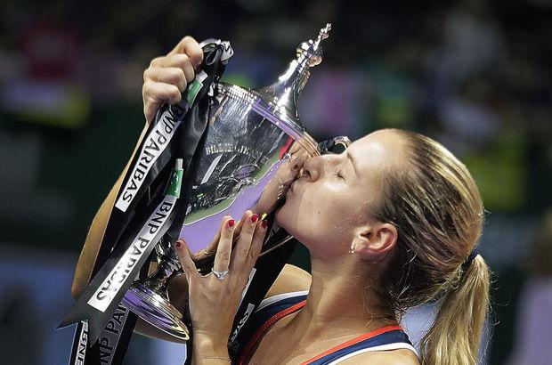 WTA şampiyonu Dominika Cibulkova!