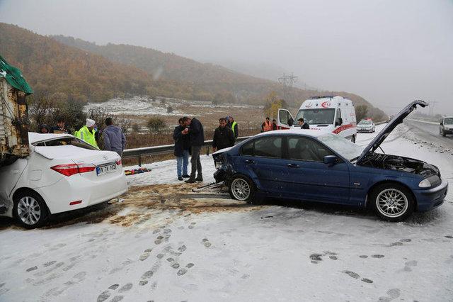 Bolu'da zincirleme kaza