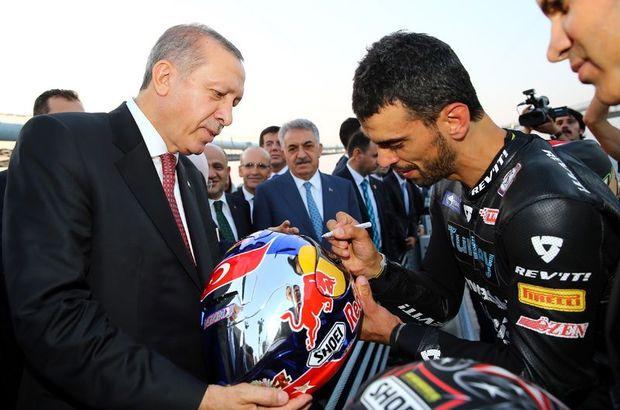 Kenan Sofuoğlu, şampiyonluk kupasını Cumhurbaşkanı Recep Tayyip Erdoğan'a götürecek