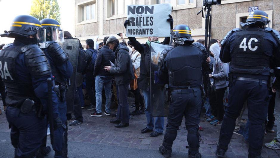 paris sığınmacı kampı