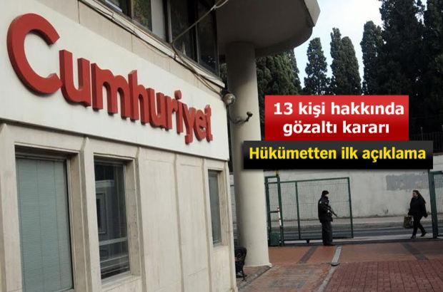 Cumhuriyet Gazetesi'ne operasyon... Murat Sabuncu gözaltında
