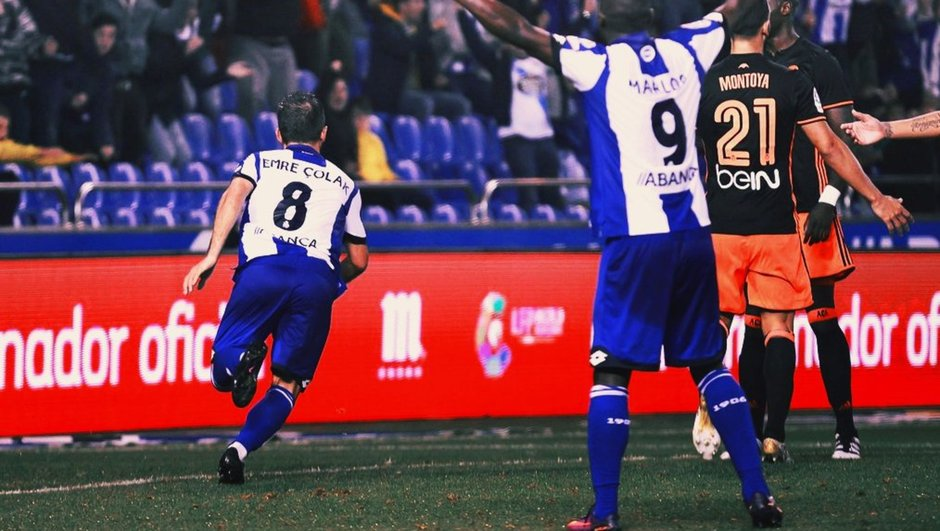 Emre Çolak gol Deportivo
